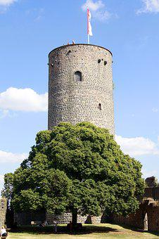 Donjon, Tower, Natural Stone, Castle, Ruin, Coins Burg