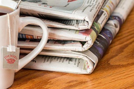Newspaper, News Media, Print Media, Teatime, Tea Time