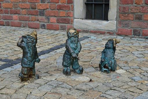 Wrocław, Krasnal, The Figurine, Sculpture, Ornament