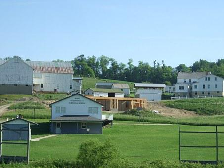 Amish, Houses, Rural, Country, Holmes, Ohio, Outdoor