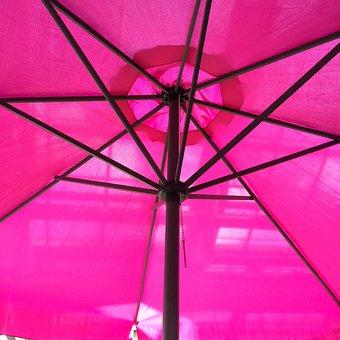 Parasol, Pink, Summer, Travel, Shade Tree