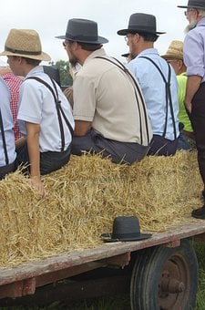 Amish Men, Amish Event, Amish Hats, Amish, Persons, Man