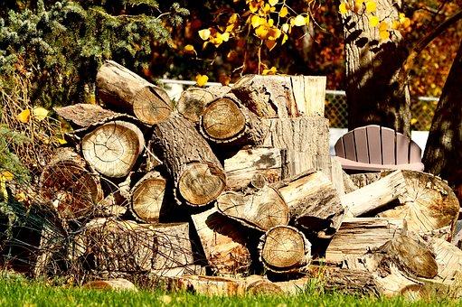 Wood, Pile, Woodpile, Firewood, Stack, Timber, Bark