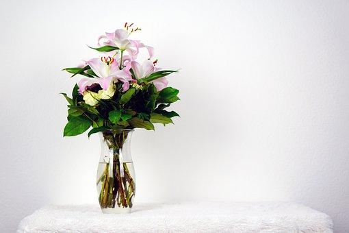 Flowers, Bouquet, Pink, Green, Valentine's Day