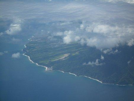 Marie Galante, Plane View, Caribbean Sea