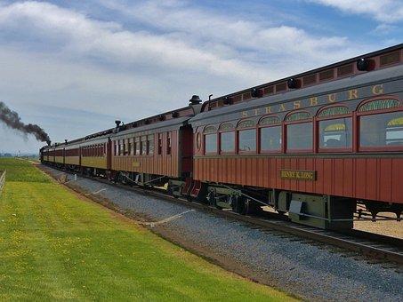 Train, Strasburg, Railroad, Rail, Road, Vintage, Steam