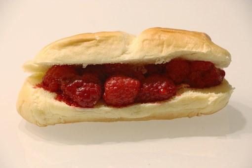 Raspberries, Roll, Funny, Food, Eat