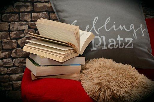Books, Book, Read, Relax, Sofa, Pillow, Literature