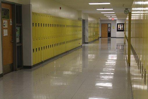 School, Lockers, Lock, Combination, Safe, Brown School
