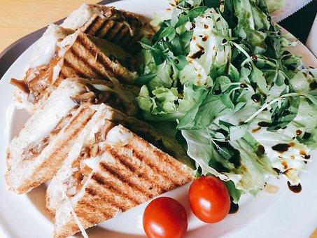 Sandwich, Cherry Tomato, Salad, Brunch