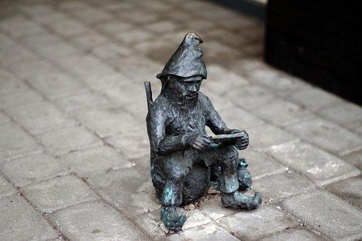 Krasnal, Sculpture, Street, Wrocław, Capital Of Culture