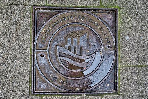 Manhole, Metal, Symbol, Sewer, Drainage, Lid, Circular