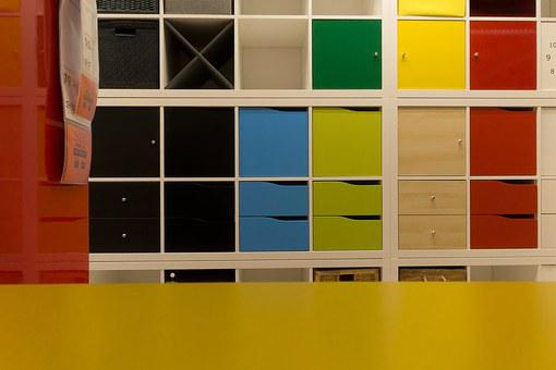 Purchasing, Color Patterns, Furniture, Shelf, Space