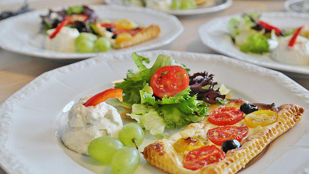 Starter, Cream Cheese, Salad, Mixed Salad, Puff Pastry
