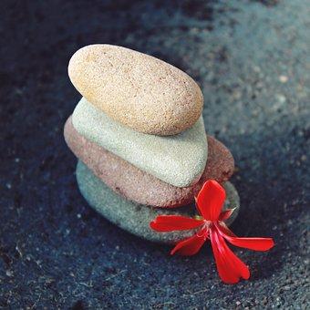 Stones, Close, Nature, Red, Decoration, Deco