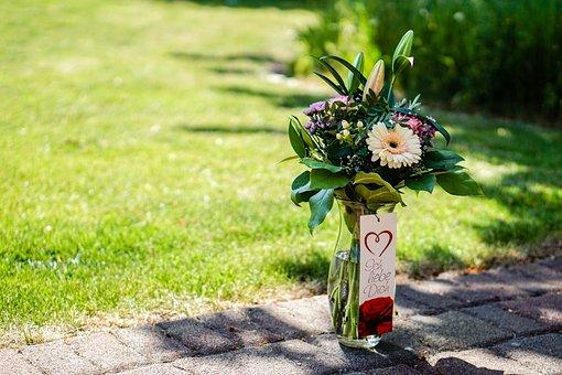 Flowers, Strauss, Love, Romantic, Bouquet, Green