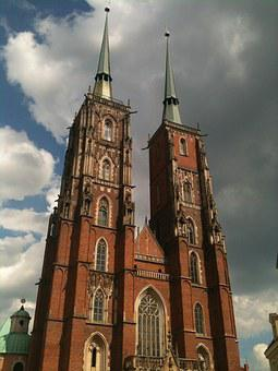 Wrocław, Building, The Cathedral, Tower, The Market