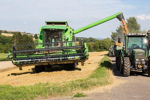 Combine Harvester, Harvest, Tractor, Harvester