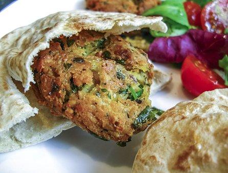 Falafel, Food, Pitta Bread, Traditional, Vegetarian