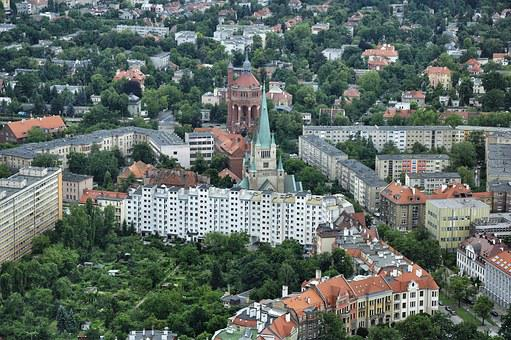 City, View, Wrocław, Buildings, Architecture