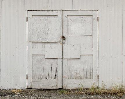 Door, Wall, Building, Creepy, Spooky, Warehouse, Winery