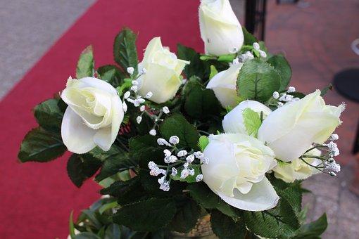 Wedding, Flowers, White Flowers, Marry, Strauss