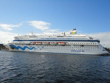 Ship, Port, Passenger Ship, Kiel, Baltic Sea, Aida