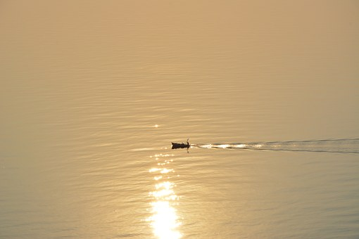 Boat, Sunset, Sea, Water, Summer, Travel, Ocean