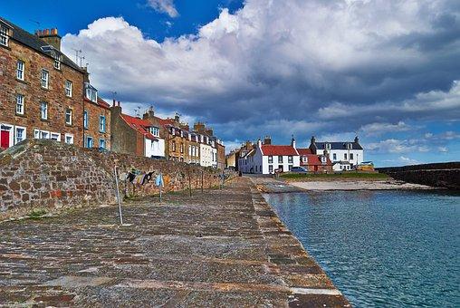 Harbour, Anstruther, Cellardyke, Sea, Jetty, Scotland