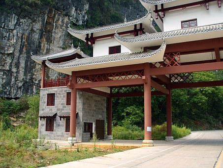 China, Yangshuo, Toll, Architecture, Building