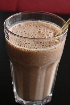 Shake, Chocolate, Banana, Drink, Straw, Sweet