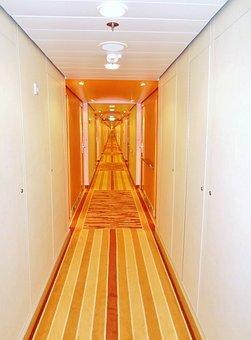 Cabin Gang, Deck, Ship, Aida, Cruise, Passenger Ship