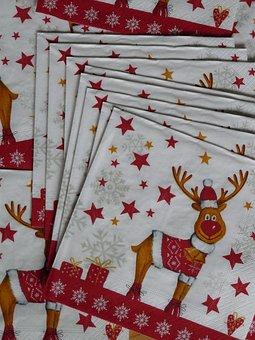 Napkins, Reindeer, Moose, Christmas, Eat, Funny