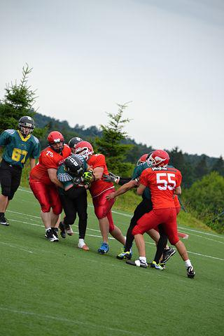 Football, American Football, Cooperation, Toil