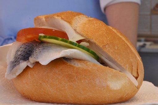 Herring, Herring Bread, Fish Bread, Fish, Sour