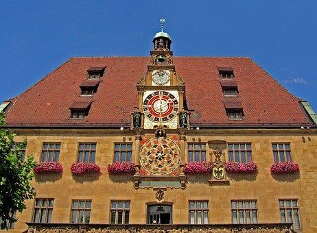Town Hall, Heilbronn, Historically, Clock, Old Town