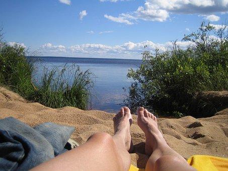 Finnish, Man, Summer Vacation, Landscape Photo