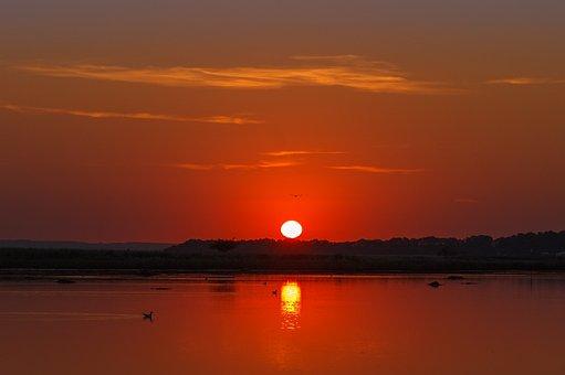 Sunrise, Island, Sun, Morgenstimmung, Romantic, Heat