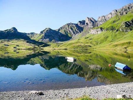 Melchseefrutt, Mountains, Mountain Summit, Alpine Lake