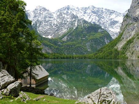 Mountains, Watzmann, Berchtesgaden Alps, Landscape