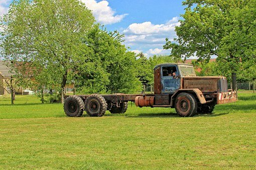 Auto, Historically, Old, Truck, Faun, Germany