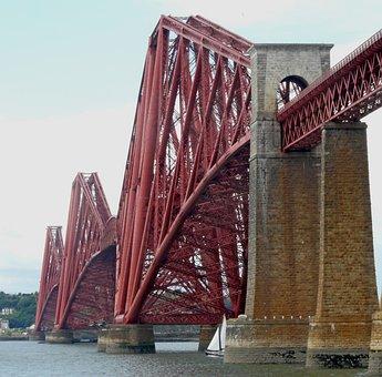Bridge, Forth, Queensferry, Scotland, Fife, Rail