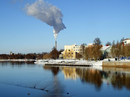 Oulu, Finland, River, Lake, Water, Reflections