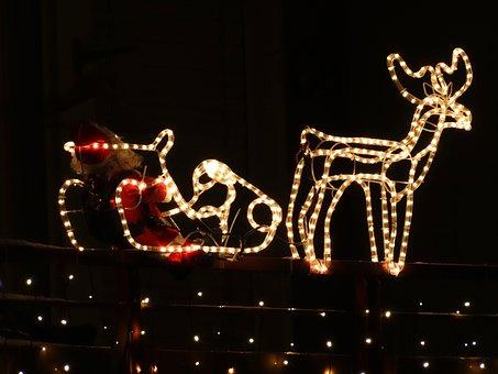 Reindeer, Nicholas, Santa, Weichnachtsdeko, Slide