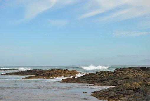 Sea, Wave, Beach, Scum, Atlantic, Movement