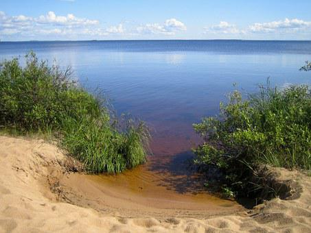 In Oulu Lake, Summer Vacation, Beach, Landscape Photo