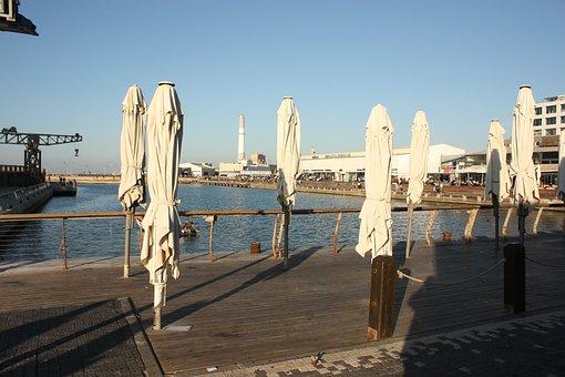 Tel-aviv, Israel, Mediterranean, Sun, Port, Jaffa