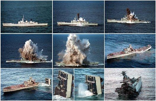 Ship, Sunk, Torpedo, Sink, Attack, Explosion, Test