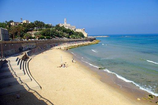Jaffa, Beach, Israel, Tel-aviv, Holiday, Mediterranean