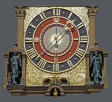 Town Hall Of Heilbronn, Detail, Architecture, Clock